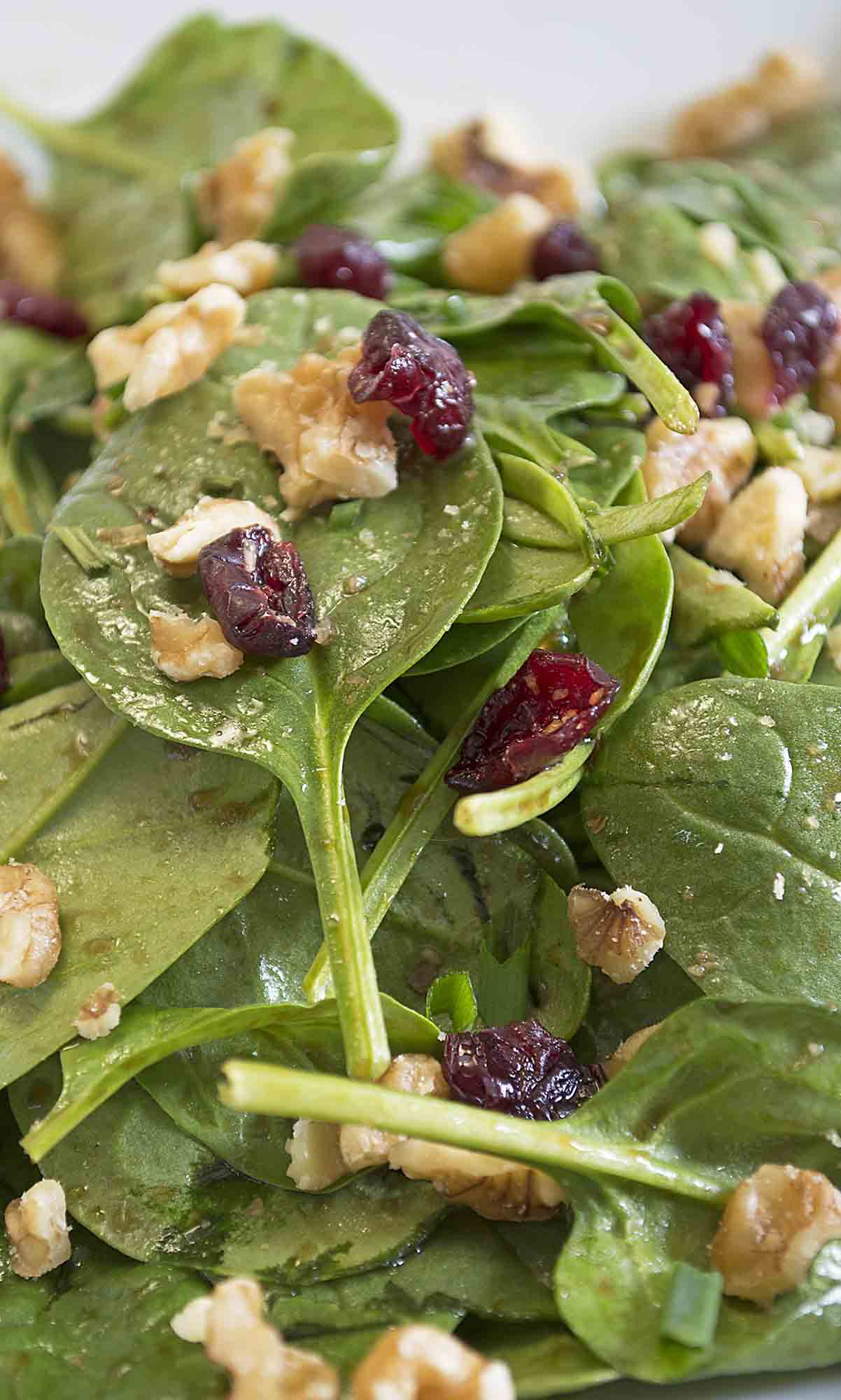 Baby Spinach Salad with Maple Balsamic Vinaigrette