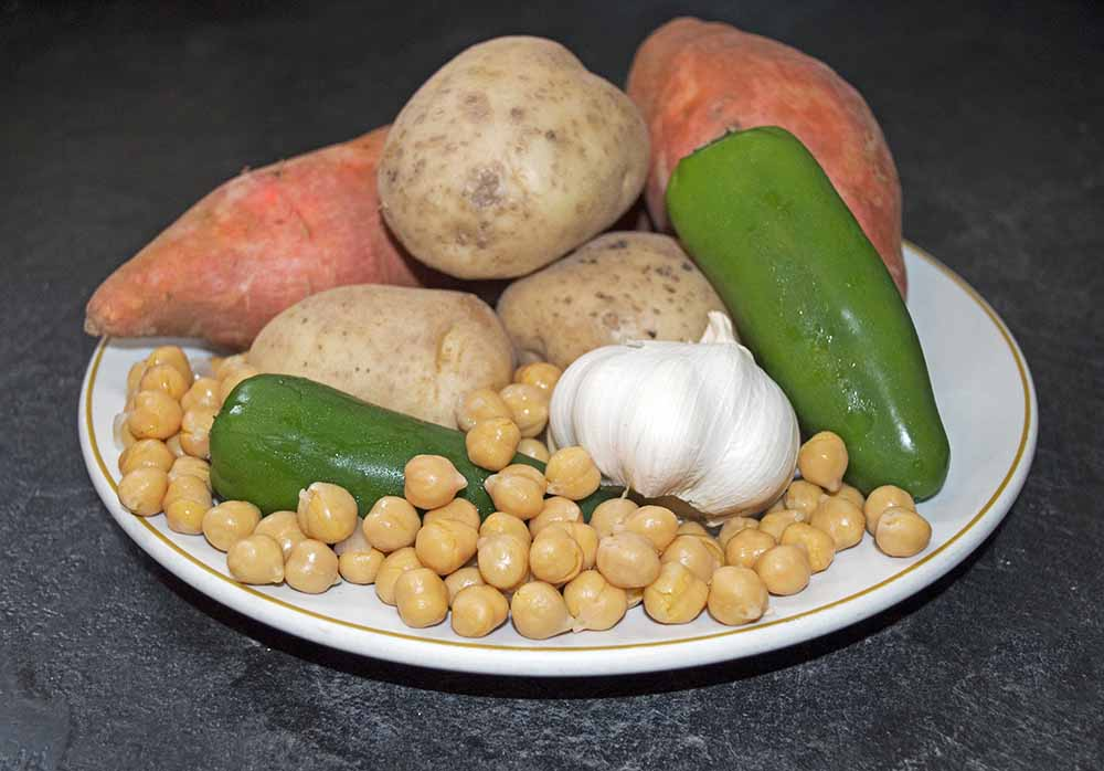 The Ingredients for Vegan Chickpea Soup