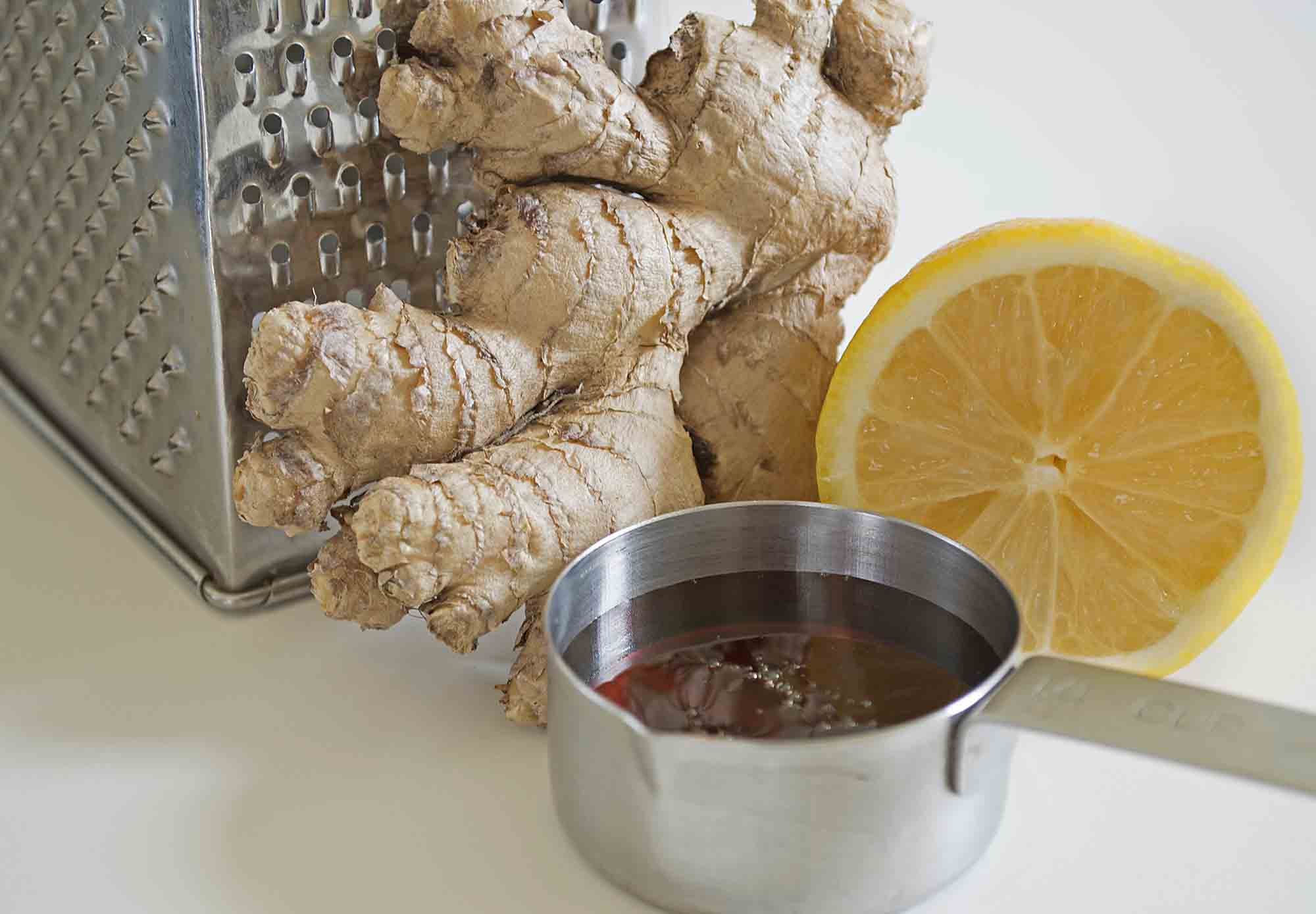 Lemon and Ginger Tea Ingredients