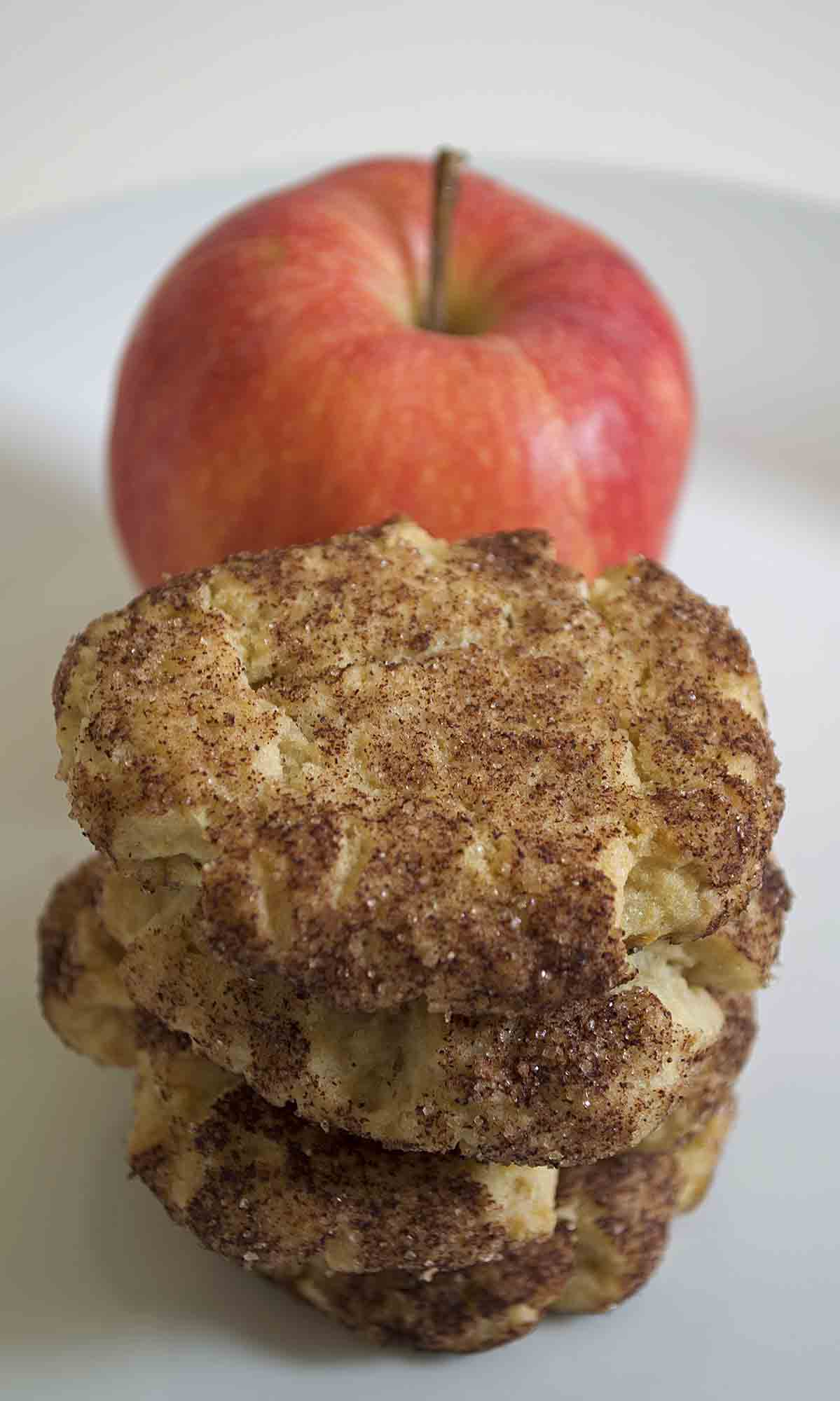Vegan Apple Cookies with Apple