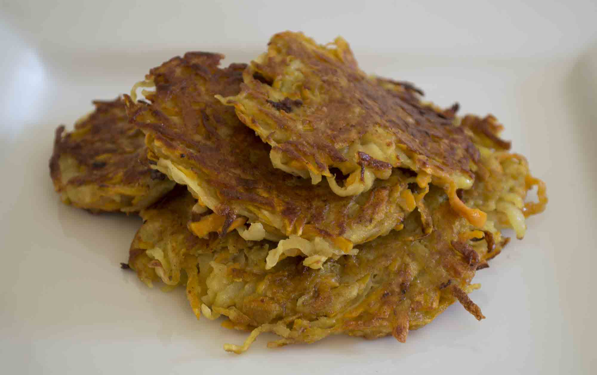 Vegan Sweet Potato Pancakes Ready to eat
