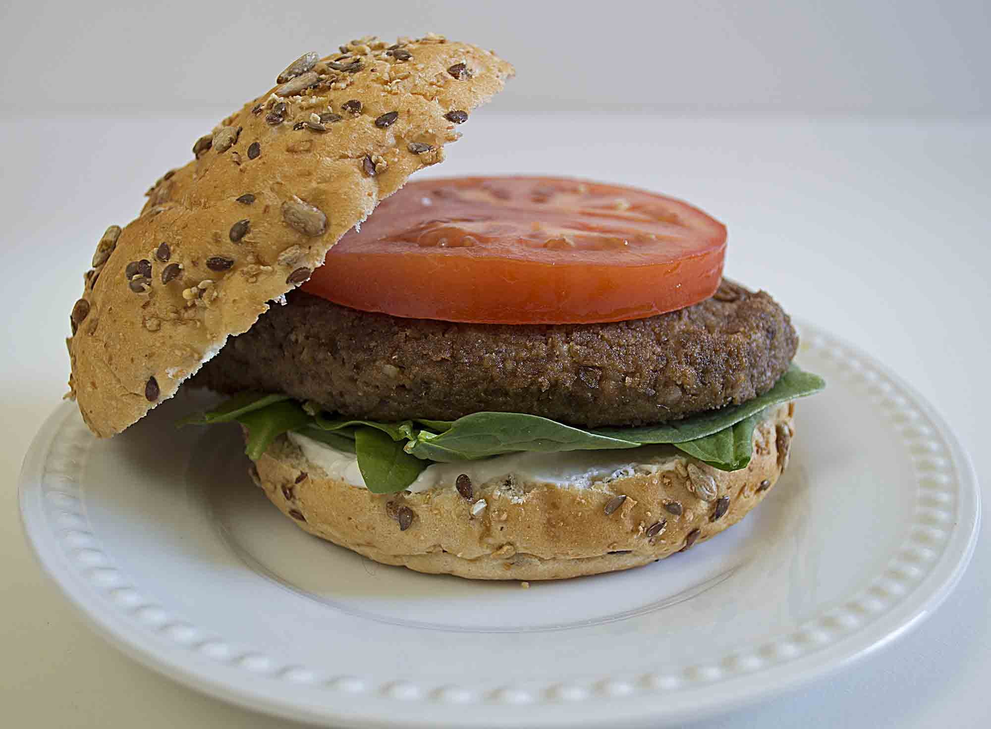 Easy Lentil Burgers ready to eat