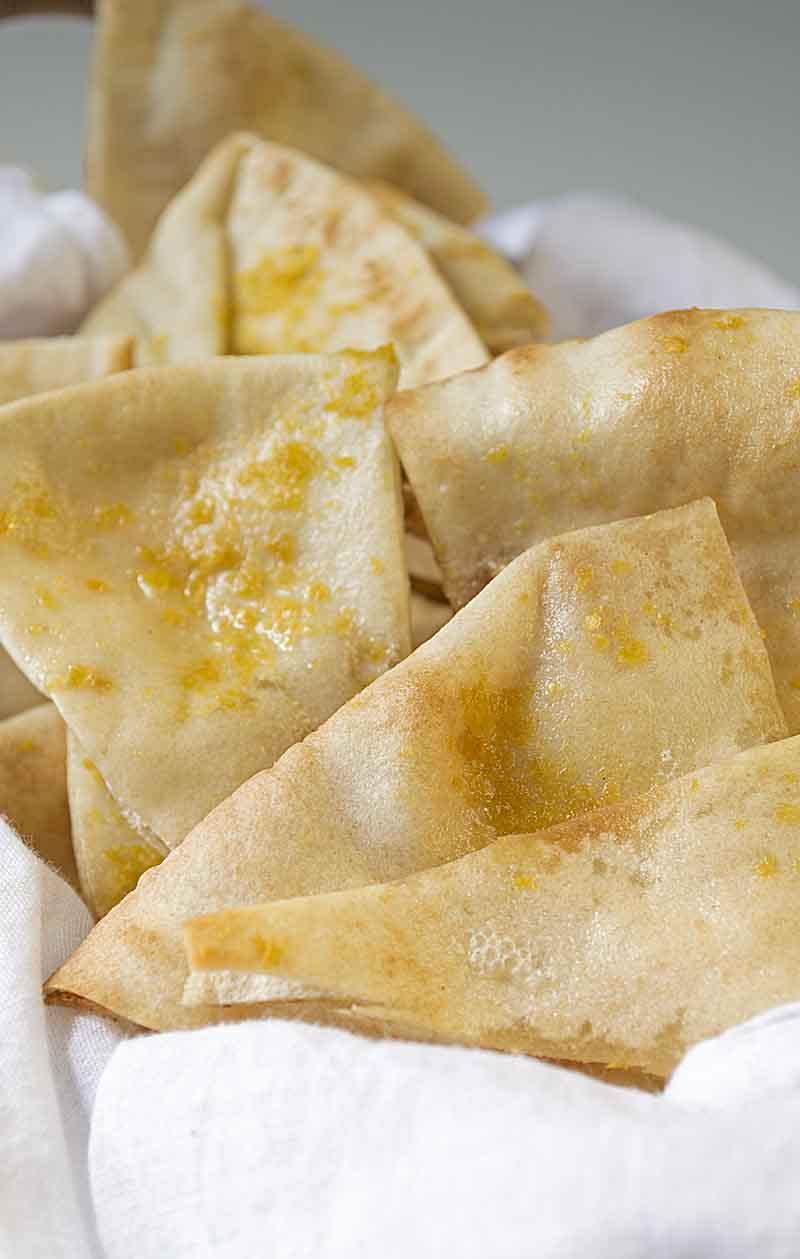 Best Roasted Garlic Pita Chips Recipe
