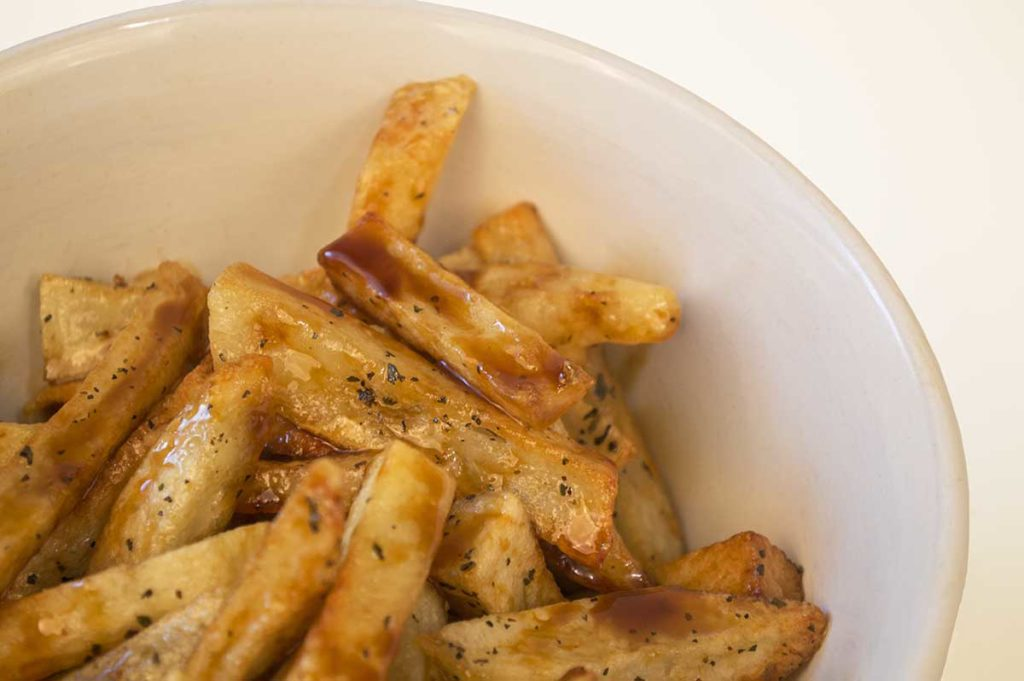"Maple Fries with Molasses ""Mayo"""